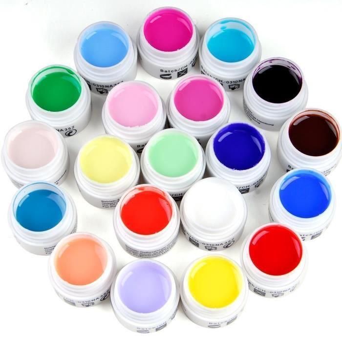 lot de 20 couleur gel uv gamme milkshake pr ongles faux. Black Bedroom Furniture Sets. Home Design Ideas