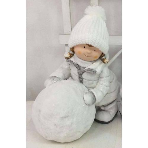 D coration de no l enfant et boule de neige achat for Achat decoration de noel