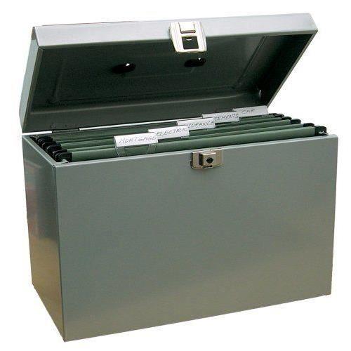 valise de classement en m tal gris papier ministre achat. Black Bedroom Furniture Sets. Home Design Ideas