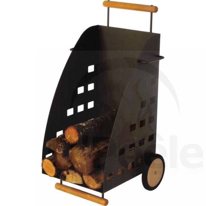 chariot b ches en acier kaddy achat vente panier porte buches chariot b ches en acier k. Black Bedroom Furniture Sets. Home Design Ideas