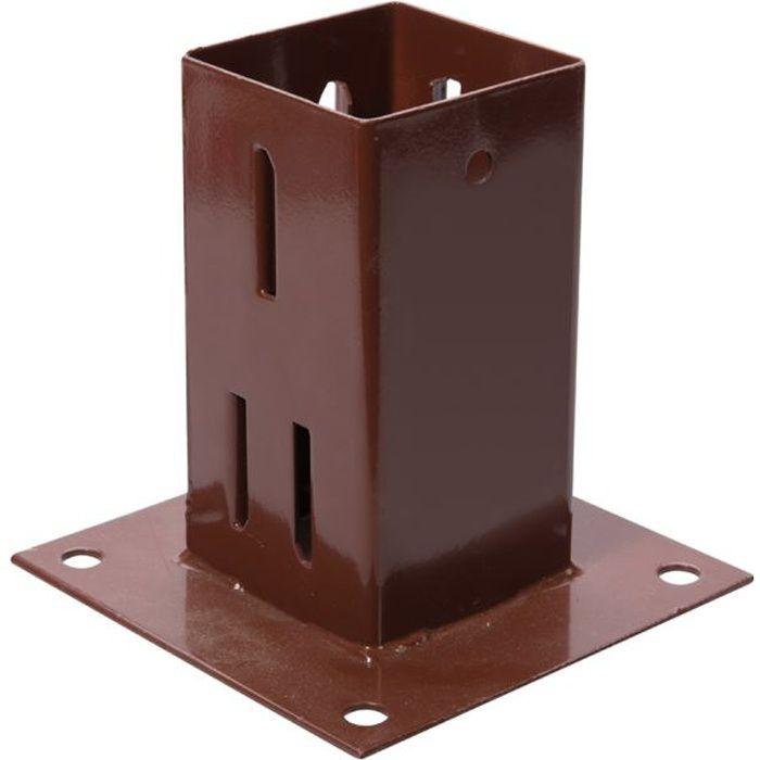support de poteau emmanchement simple 75 x 75 achat. Black Bedroom Furniture Sets. Home Design Ideas
