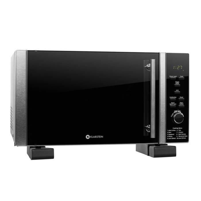 Set klarstein micro ondes luminance prime 28l 900w 12 - Support mural micro ondes ...