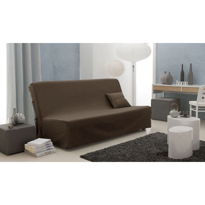 housse clic clac twill serg couleur chocolat 1 achat. Black Bedroom Furniture Sets. Home Design Ideas
