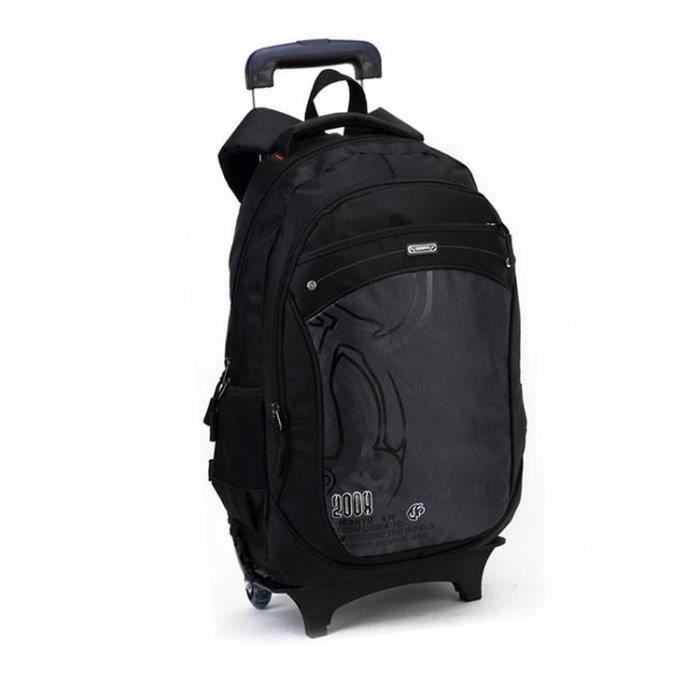 stoex sac dos roulettes trolley scolaire cole enfant noir achat vente sac dos. Black Bedroom Furniture Sets. Home Design Ideas