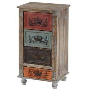 COMMODE DE CHAMBRE Commode Vigo armoire table d'appoint, vintage, sha
