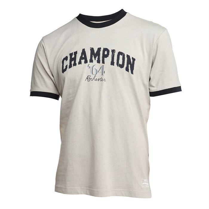 champion t shirt homme beige et gris achat vente t. Black Bedroom Furniture Sets. Home Design Ideas