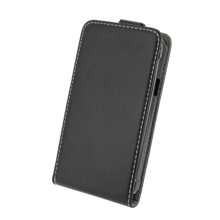 Pour samsung xcover 3 housse aspect cuir noir rabat luxe for Housse xcover 4