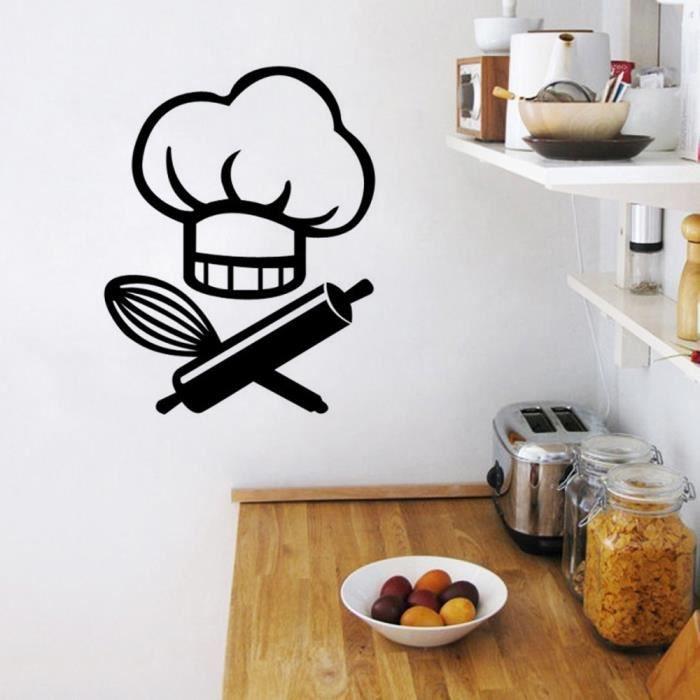 Cr ative dessin anim stickers muraux pour cuisine for Deco pour la cuisine