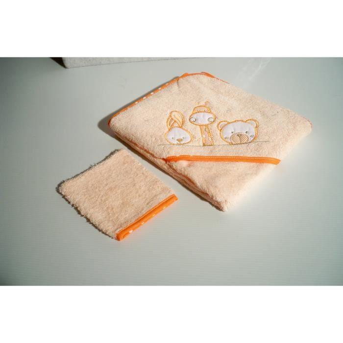 parure sortie de bain avec gant de toilette orange achat vente sortie de bain 2009911464572. Black Bedroom Furniture Sets. Home Design Ideas