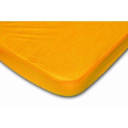 Drap housse jaune d 39 or 120 x 190 cm achat - Drap housse jaune ...