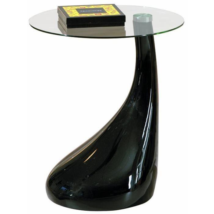 table d 39 appoint rossini avec plateau verre noir achat vente table d 39 appoint table d. Black Bedroom Furniture Sets. Home Design Ideas