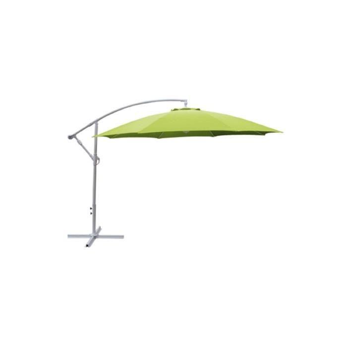 Parasol d port 3m vert anis achat vente parasol - Parasol deporte vert anis ...