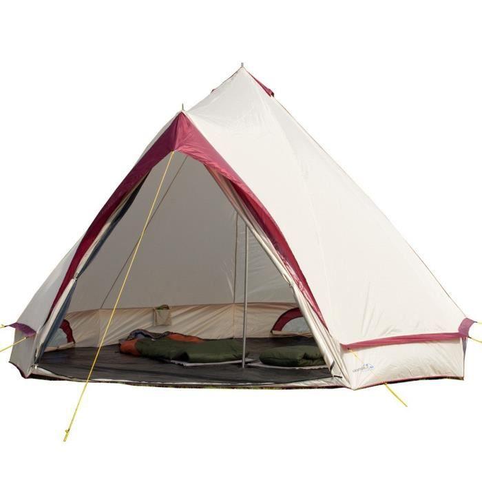 skandika comanche tente 8 places sable rouge achat. Black Bedroom Furniture Sets. Home Design Ideas