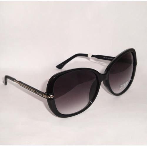 lunettes de soleil guess femme noir logo guf253 blk 35 noir dor achat vente lunettes de. Black Bedroom Furniture Sets. Home Design Ideas