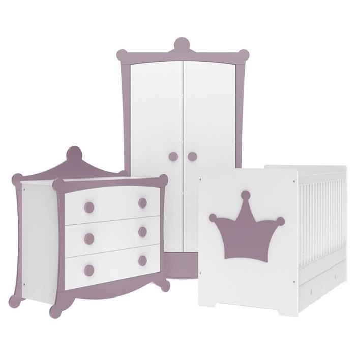 Chambre B B Couronne Prune Et Blanche Direct Usine Made In France Achat Vente Chambre