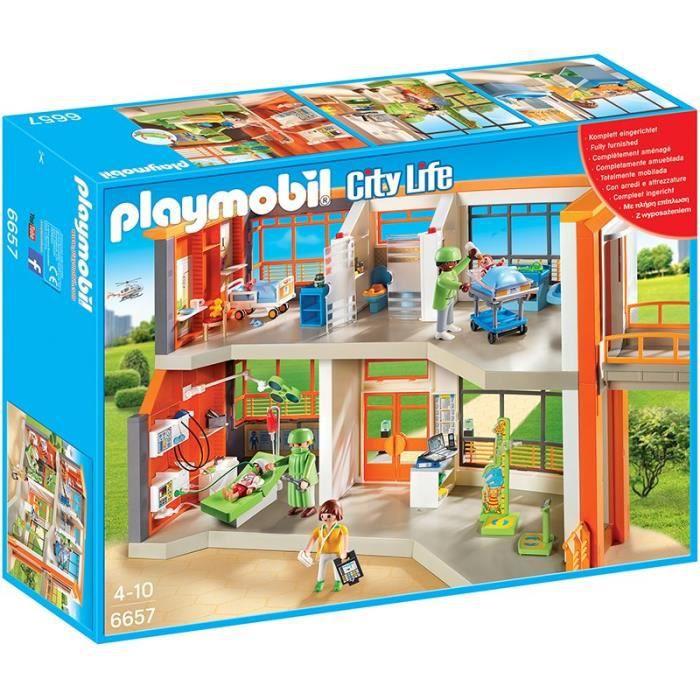 playmobil 6657 h pital p diatrique am nag achat vente univers miniature cadeaux de no l. Black Bedroom Furniture Sets. Home Design Ideas