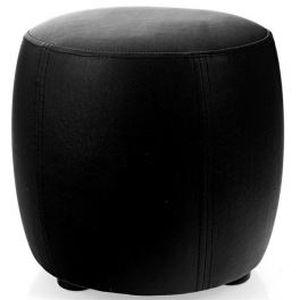 pouf rond diam tre 30 cm noir mat achat vente pouf poire soldes cdiscount. Black Bedroom Furniture Sets. Home Design Ideas