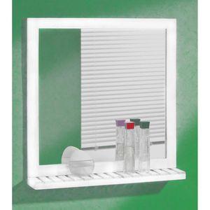 Miroir avec tablette de salle de bains achat vente for Miroir salle de bain avec etagere