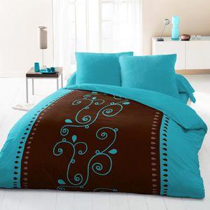 housse de couette bleu turquoise achat vente housse de couette bleu turquoise pas cher les. Black Bedroom Furniture Sets. Home Design Ideas