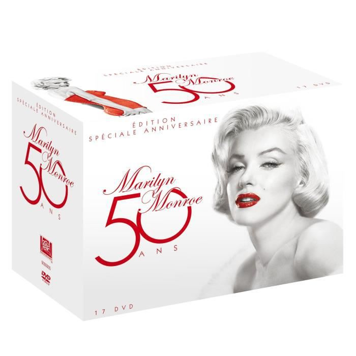 dvd coffret 50 ans marilyn monroe en dvd film pas cher