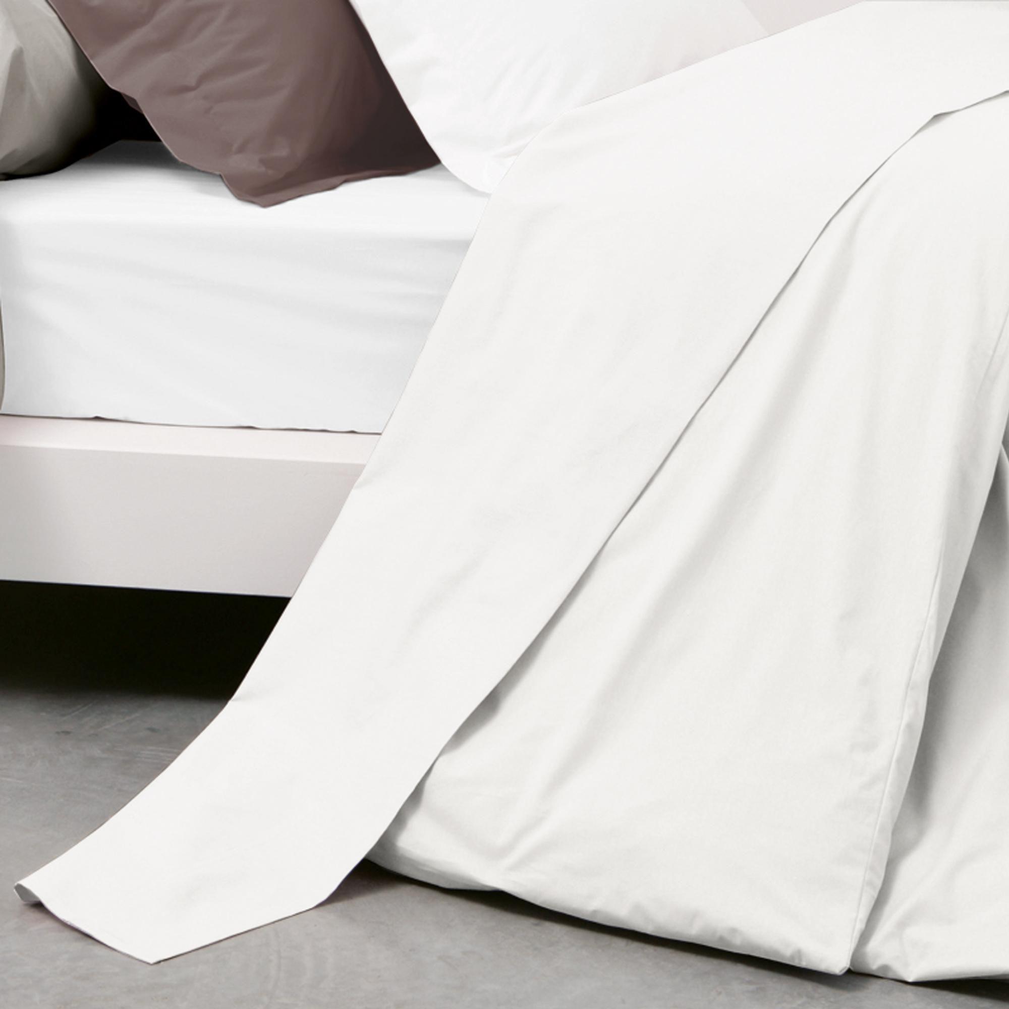 drap plat coton percale 270x310 blanc achat vente drap plat cdiscount. Black Bedroom Furniture Sets. Home Design Ideas