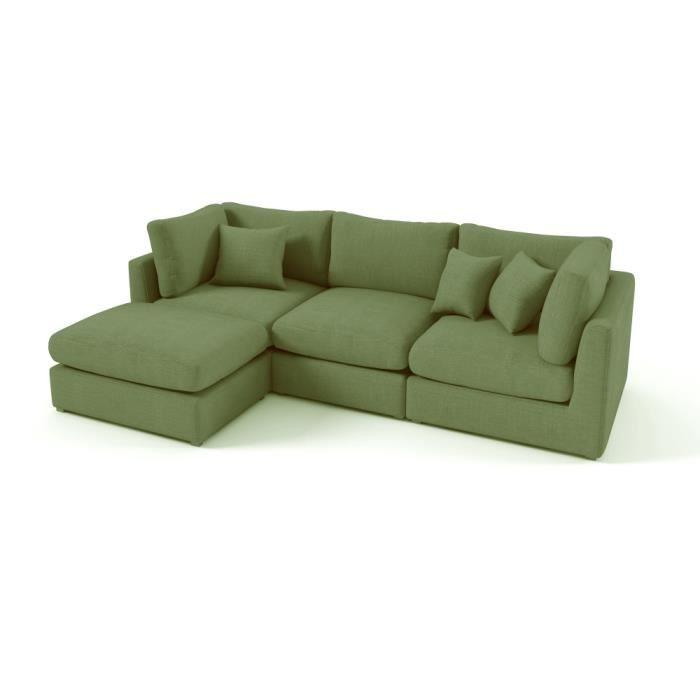 Canap d 39 angle en tissu de qualit sandro achat vente canap sofa - Canape de bonne qualite ...