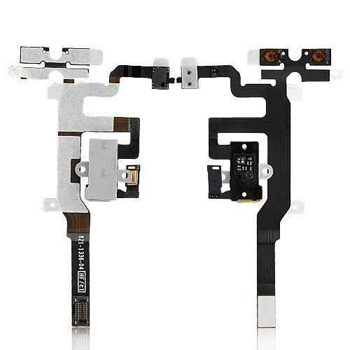 nappe de connexion ecouteur jack iphone 4s blanc achat. Black Bedroom Furniture Sets. Home Design Ideas