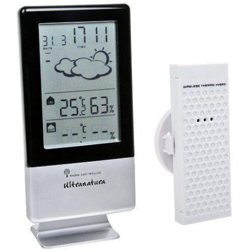 ultranatura station m t o un 900 avec horloge radio pilot e et capteur thermique hygrom trique. Black Bedroom Furniture Sets. Home Design Ideas