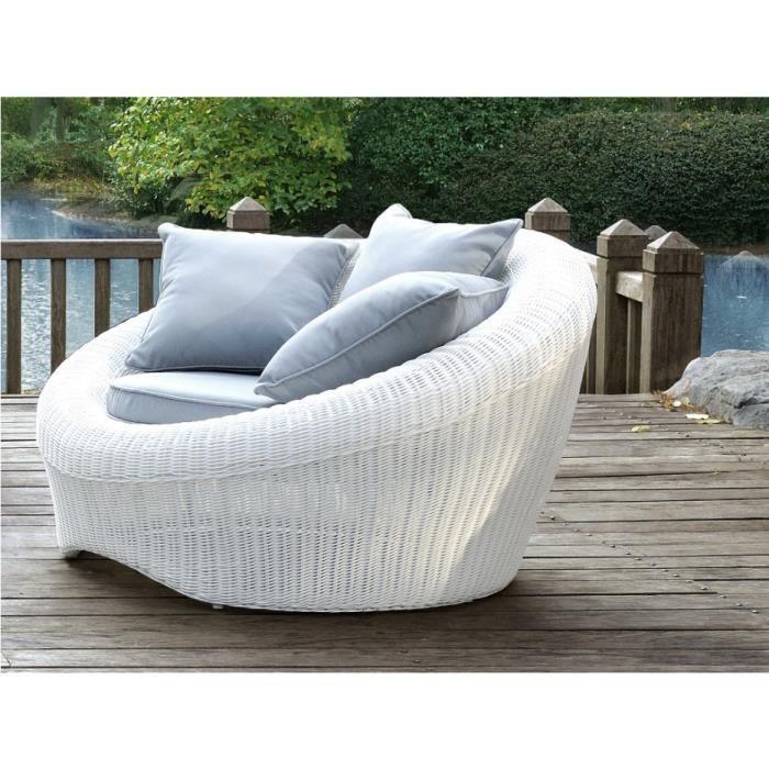 lot de 2 fauteuils de jardin whiteheaven en r sine tress e blanche achat vente fauteuil. Black Bedroom Furniture Sets. Home Design Ideas