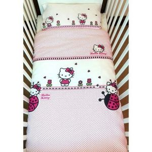 parrure hello kitty achat vente parrure hello kitty pas cher cdiscount. Black Bedroom Furniture Sets. Home Design Ideas