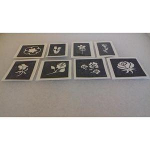 JEU DE TATOUAGE 30 x mini petit fleurs pochoirs pour tatouages g