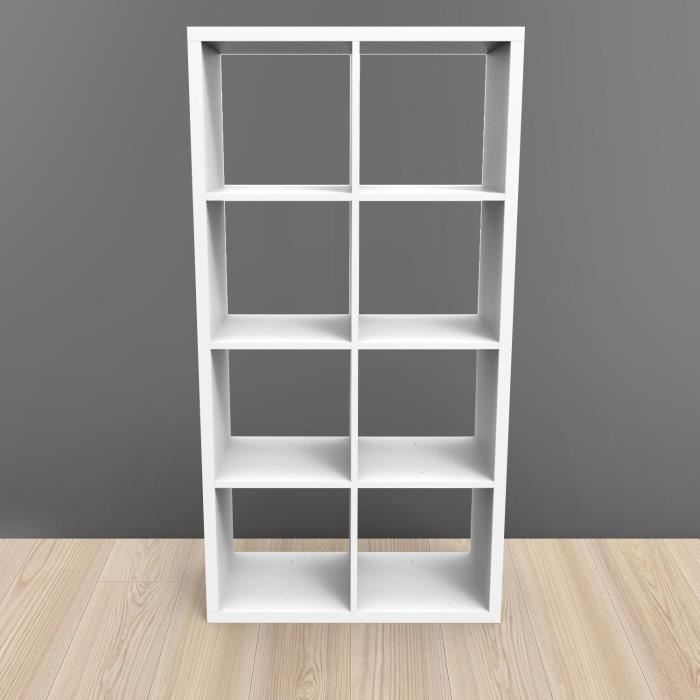 Etagere kubin blanc 8 cases achat vente meuble tag re for Meuble 8 cases