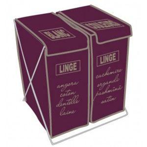 Panier a linge duo couleur bordeau achat vente panier - Panier a linge 2 compartiments ...