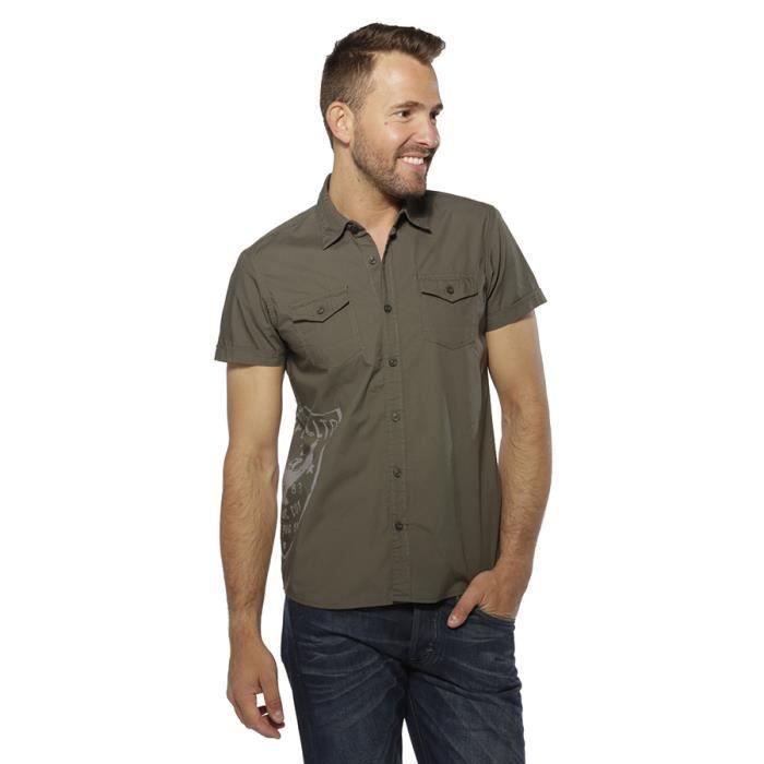 chemise blouse homme kaporal 5 rizla kaki kaki achat. Black Bedroom Furniture Sets. Home Design Ideas