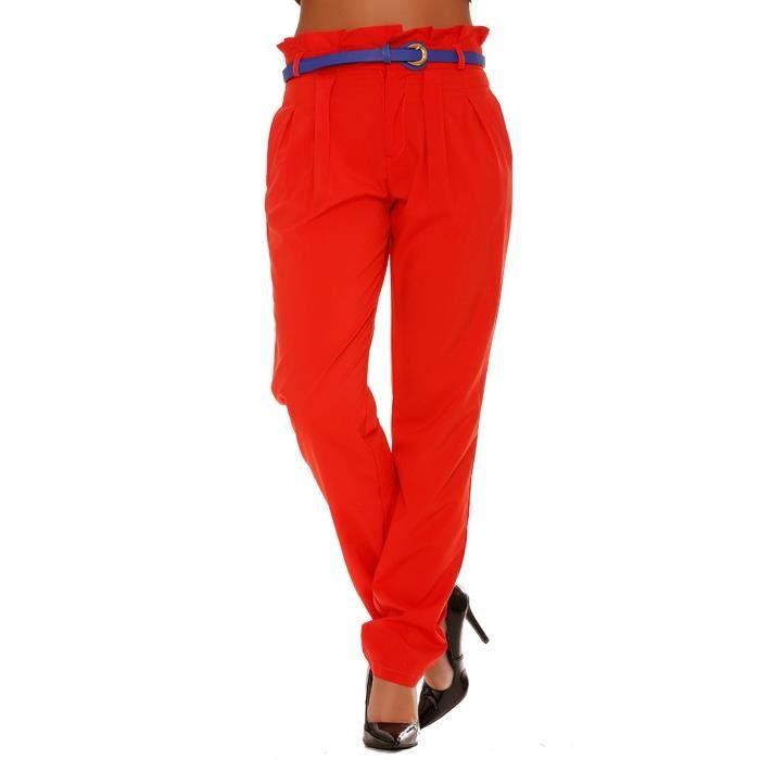 pantalon rouge fluide coupe carotte rouge achat vente pantalon cdiscount. Black Bedroom Furniture Sets. Home Design Ideas