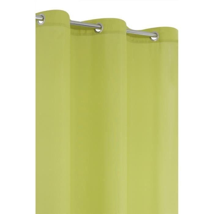 rideau uni 6 oeillets 140x240 cm vert anis achat vente rideau voilage rideau uni 6. Black Bedroom Furniture Sets. Home Design Ideas