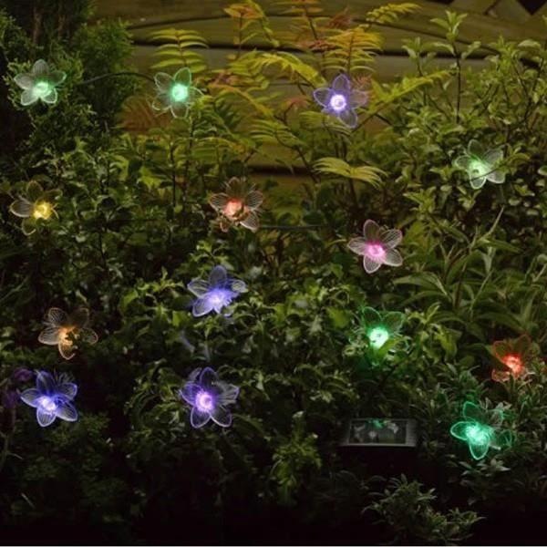 guirlande solaire fleurs fibre optique rgb achat vente guirlande d 39 exterieure guirlande. Black Bedroom Furniture Sets. Home Design Ideas