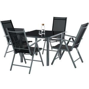 Table De Jardin Avec Chaises En Plastique Achat Vente