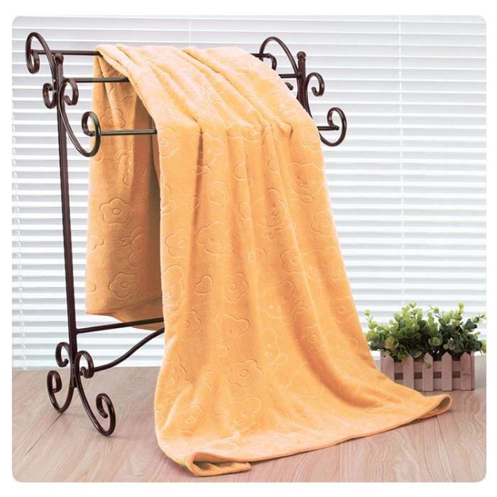 les femmes serviette de bain orange achat vente serviettes de bain cdiscount. Black Bedroom Furniture Sets. Home Design Ideas
