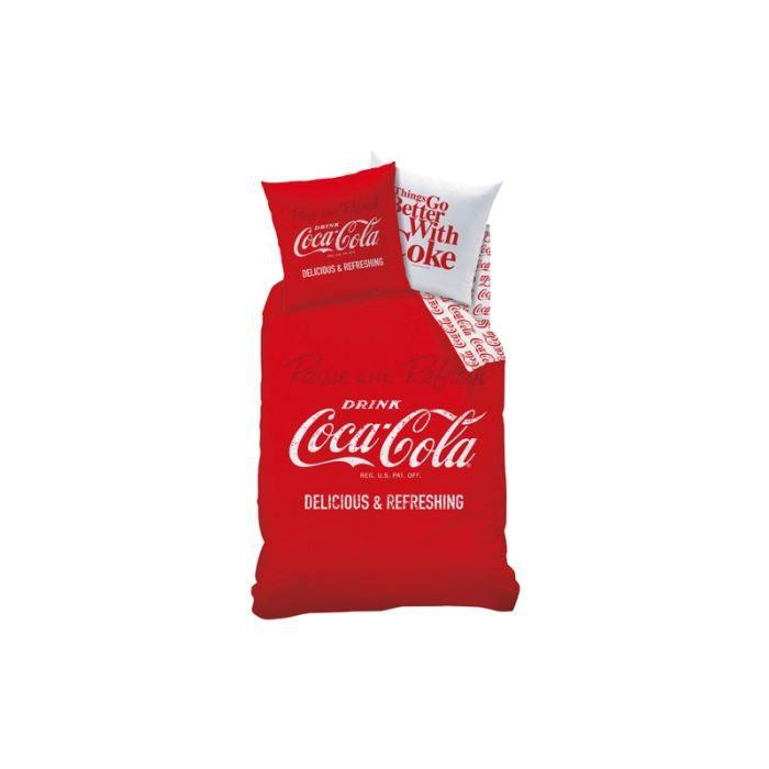 Parure housse de couette coca cola achat vente parure de couette cdiscount - Housse de couette coca cola ...
