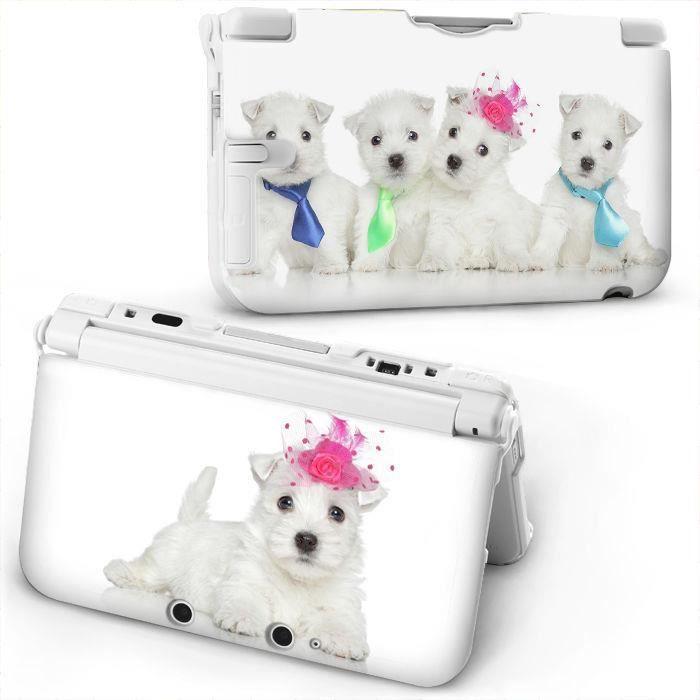 Coque Housse 3DS XL Chien Dog mignon princesse peluche pet