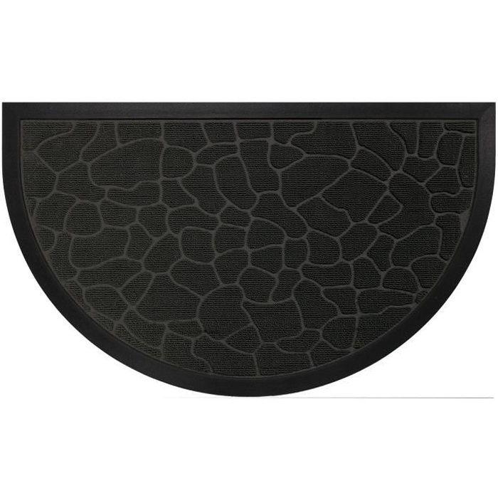 tapis d 39 entr e 45x75cm demi lune galets noir achat