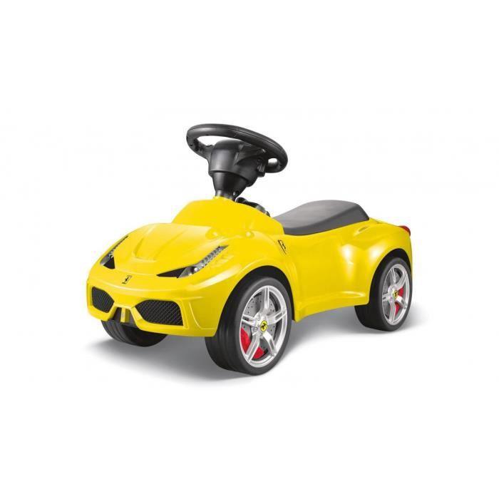 voiture porteur pour enfant ferrari f458 jaune achat vente voiture enfant les soldes. Black Bedroom Furniture Sets. Home Design Ideas