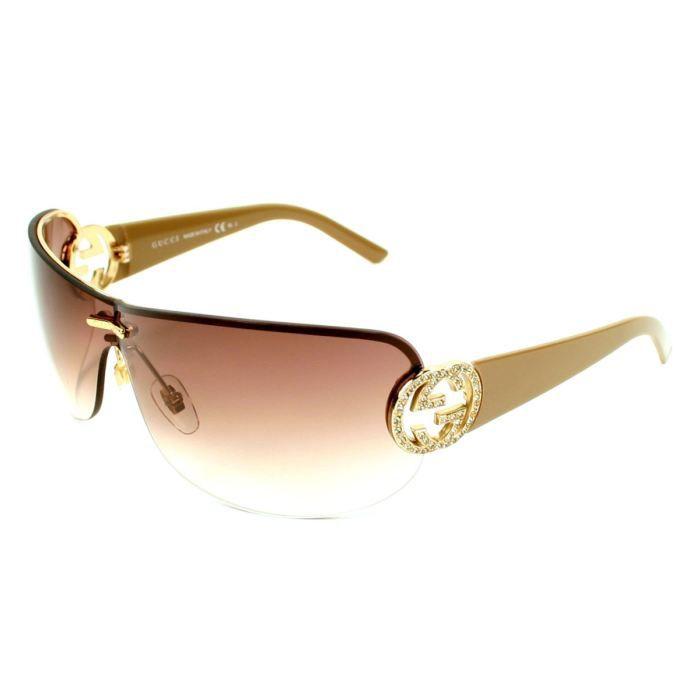 lunettes de soleil gucci gg4224s or beige verr or beige. Black Bedroom Furniture Sets. Home Design Ideas
