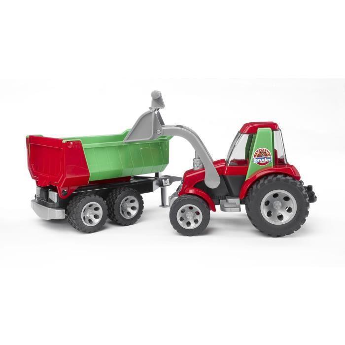 tracteur chantier bruder 20116 tracteur roadmax avec fourche et re