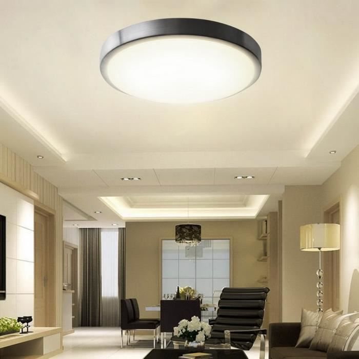 18w lampe led plafonnier moderne salon blanc chaud achat for Eclairage salon moderne