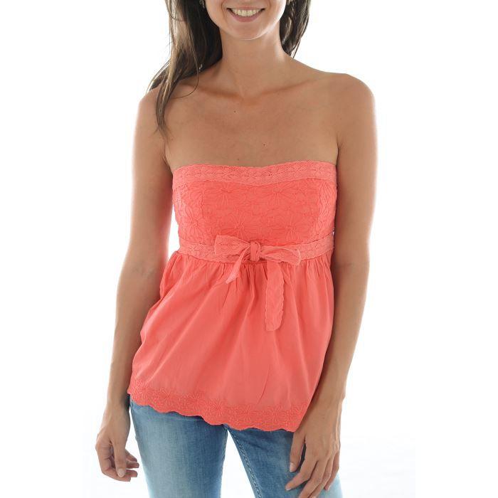 top tee shirt femme kaporal 5 rose achat vente bustier cdiscount. Black Bedroom Furniture Sets. Home Design Ideas