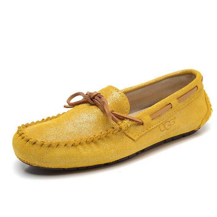 jaune chaussures mocassin sport nubuck femme ugg australia achat vente mocassin jaune. Black Bedroom Furniture Sets. Home Design Ideas
