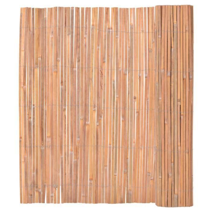 Clôture en bambou 150 x 400 cm - Achat / Vente clôture - grillage ...