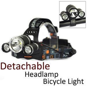 LAMPE FRONTALE Détachable 6000 lumens Rechargeable Bike Light Fro